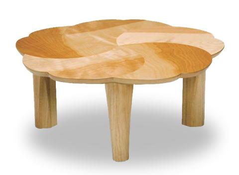 テーブル リビングテーブル ローテーブル 座卓 【桜】 円形 丸型 90cm丸サイズ 花びら おしゃれ かわいい デザイン 折りたたみ 天然木 サクラ 国産 日本製【smtb-KD】