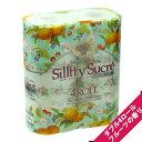 【フローラルフルーツの香り】フレグランス トイレットペーパー シルティシュクレ ダブル(4ロール)【プリント柄】
