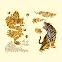 蒔絵シール「龍VS虎」