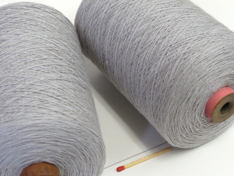 【10/2綿(うすグレー)】 手織りにも手編みにもオススメの綿糸が43色!やわらかくて使いやすい、人気の定番シリーズです♪【開店セール1212】