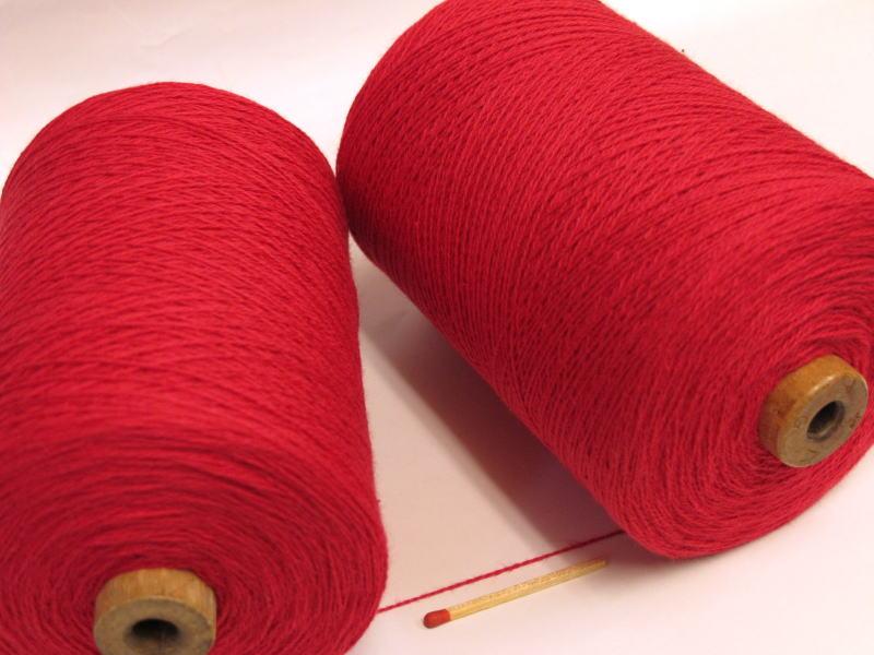 【10/2綿(赤)】 手織りにも手編みにもオススメの綿糸が43色!やわらかくて使いやすい、人気の定番シリーズです♪【開店セール1212】
