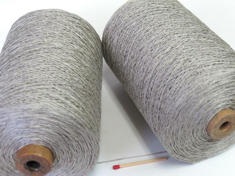 【40/4リネン(生成)】 さらっとした爽やかな手ざわりはリネン(亜麻)ならでは。手織りにも手編みにもオススメの麻糸です。