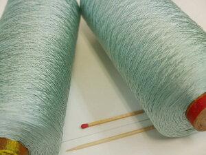 【正絹21/4×5(みずいろ)】 キメの細かい高級感あふれる絹糸です。シルクならではの上品な風合いをお楽しみください♪