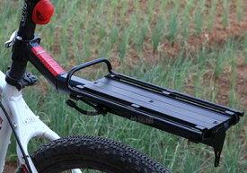 電動自転車 自転車用荷台 リアキャリア 後付け 荷物ラック 軽量 耐荷重10KG 固定用ゴムバンドあり