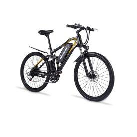 Shengmilo M60 27インチ 電動アシスト自転車 48V500W17Ahモーター デスクブレーキ ファットバイク フル電動自転車 スノーバイク フルアルミ製 スポーツ アクセル付き おしゃれ 26×2.1タイヤ