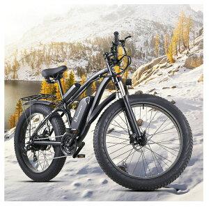 Mx02S最強パワーのモペット★数量限定高級版★BAFANG製48V1000W18Ahモーター 油圧デスクブレーキ 電動アシスト自転車 ファットバイク フル電動自転車 スノーバイク フルアルミ製 26インチ スポー