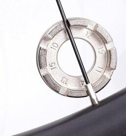スポークレンチ ニップル回し #10/#11/#12/#13/#14/#15用 自転車 マルチ ホイール リムレンチ スパナ スポーク ツール アジャスター 送料無料