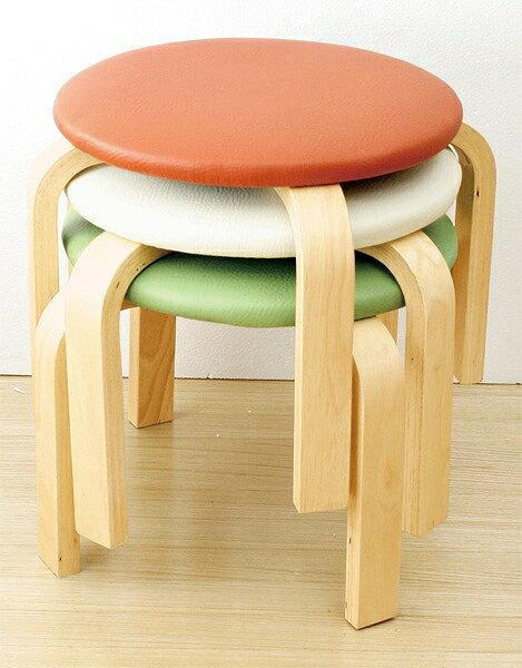 丈夫なスツール 木製椅子(ロータイプ) 単品1脚アイボリー オレンジ グリーンからお選びいただけます。 軽量 収納 木製 オットマン イス ロースツール コンパクト 子供 キッズ スタッキング 補強 玄関 キッズチェア 低い シンプル 合皮 ナチュラル