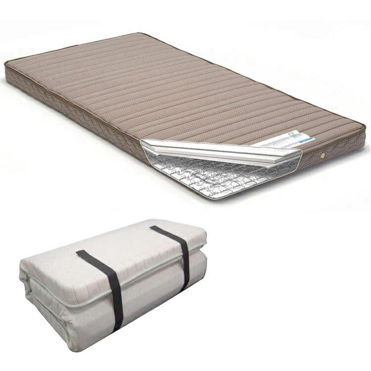France Bed ( フランスベッド ) 折りたたみ スプリング マットレス ラクネスーパー S( シングル )サイズ 狭いスペース francebed MATTRESS single 高密度スプリング 持ち運び