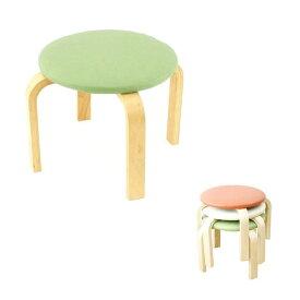【単品1脚】丈夫なスツール 木製椅子(ロータイプ)アイボリー オレンジ グリーンからお選びいただけます。 軽量 収納 木製 オットマン イス ロースツール コンパクト 子供 キッズ スタッキング 補強 玄関 キッズチェア 低い シンプル 合皮 ナチュラル