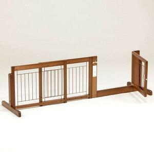 ペットゲート [ スタンド ゲート F45A メッシュ] 木製 小型犬 ゲート 扉付き 室内用 伸縮 幅調節 自立型 置型 ペット家具