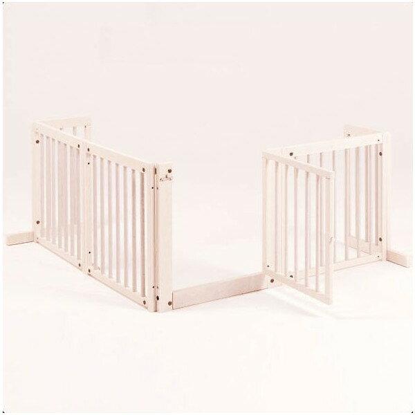 「コーナーゲート F60XL」ペットゲート 木製 室内 ペット用ゲート 犬 ゲート ドア付き 自立型