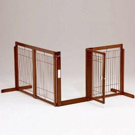 ペットゲート 犬用[ コーナー ゲート F 80 XL メッシュ ] 木製 ゲート ドア付き 置くだけ 室内用 自立型 L字型 仕切り ペット家具