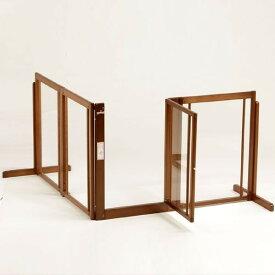 ペットゲート [ コーナーゲート F80XL アクリル] 木製 犬 ゲート 室内用 ドア付き 自立型 L字型ゲート 仕切りゲート 高さ80cm