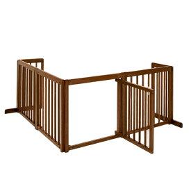 「コーナーゲート 60XL」ペットゲート 木製 室内 ペット用ゲート 犬 ゲート ドア付き 自立型