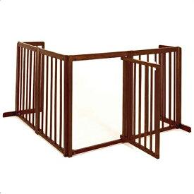 「コーナーゲート 80XL」ペットゲート 木製 室内 ペット用ゲート 犬 ゲート ドア付き 自立型