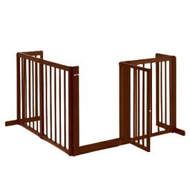 ペットゲート [ コーナーゲート F80XL ] 木製 犬 ゲート 室内用 ドア付き 自立型 L字型ゲート 仕切りゲート 高さ80cm