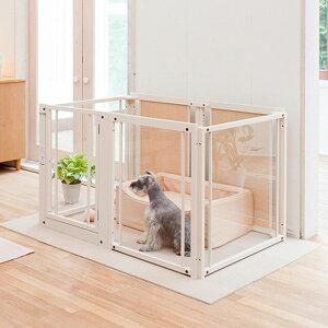 ペットサークル 犬用[ ペット サークル F80L アクリル ]木製 中型犬 大型犬 サークル 多頭飼い 室内用 ドア付き 日本製 ペット家具