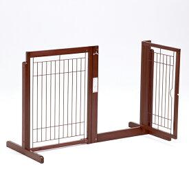 「システムゲート BF 80 メッシュ」ペットゲート 犬 ゲート 木製 室内 ドア付き 自立型