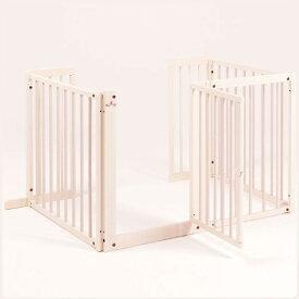 『コの字 ゲート F 80L』 木製 室内 ペットゲート 犬 ゲート