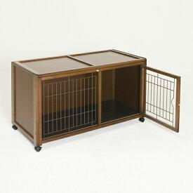 ペットケージ [ ペット ケージ ハウス AS120 + ニュークリネスシート AS120用 ] 木製 小型犬 ゲージ おしゃれ 室内用 スライド屋根付き キャスター付き 防水マット付き 日本製