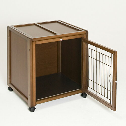 「ペットケージ ハウス AS60」犬 ゲージ 犬 ケージ 木製 ペット用ケージ 小型犬用 室内用 キャスター付き 屋根付き