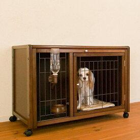 [セール]犬 ケージ [ ペットケージ ハウス AS88 + ニュークリネスシート AS88用 ] 木製 小型犬 ゲージ おしゃれ 室内用 スライド屋根付き キャスター付き マット付き 日本製 [セット商品]