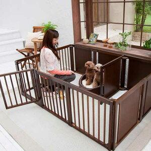 ペットサークル 犬用 [ サークル プラス F60 XLp ] 小型犬 サークル 多頭飼い 室内用 木製 仕切り 日本製 ペット家具