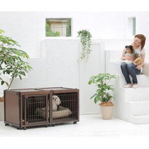 犬用 ケージ [ ペットケージ FR 60 S メッシュ ] ゲージ ハウス 屋根付き サークル おしゃれ 室内用 木製 小型犬 キャスター付き 日本製 ペット家具