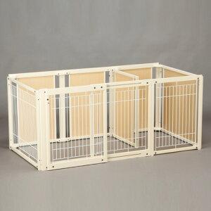 ペットサークル [ サークル プラス FS 80 Lp メッシュ] 木製 大型犬 サークル 多頭飼い 室内用 ドッグサークル スライドドア 仕切り 日本製