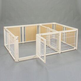 『サークル ルーム F 60 XLp メッシュ』日本製 木製 ペットサークル サークル 多頭飼い 小型犬 サークル