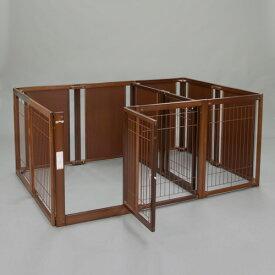 ペットサークル [ サークル ルーム F 80 XLp メッシュ ] 木製 サークル 大型犬 多頭飼い 室内用 日本製 仕切り 2部屋