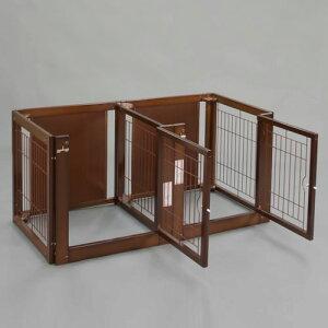 「多頭飼い サークル F 60-66 メッシュ」日本製 木製 ペットサークル サークル 多頭飼い 小型犬 サークル