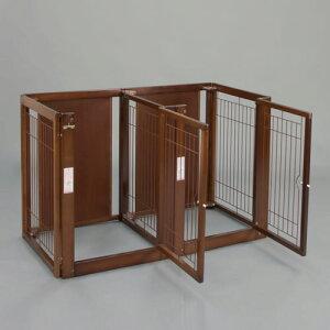 ペットサークル[ 多頭飼い サークル F 80-66 メッシュ ] 木製 サークル ケージ ゲージ 多頭飼い 小型犬 中型犬 大型犬 室内用 日本製