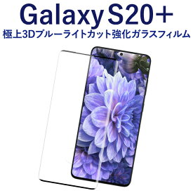 Galaxy S20+ 強化ガラスフィルム 液晶保護フィルム Galaxy S20+ 5G docomo SC-52A au SCG02 ギャラクシー s20 plus 5g sc-52a scg02 ブラック ブルーライトカット ガラス RSL