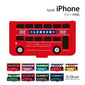 iPhone アイフォン ケース iPhone11 iPhone11 Pro iPhone11 Pro Max iPhone xs max iPhone xr X 8 plus 7 plus 6 6s SE 5 5s iPod touch 7 6 5 第7世代 第6世代 第5世代 手帳型 手帳 スマホケース スタンド機能 バス ロンドン 車