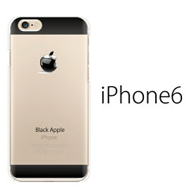 0ec68d058d85ae iPhone6s ケース iPhone6s カバー Black Apple ブラック・アップル iPhone6 ケース iPhone6s クリア  アップルマーク ハード