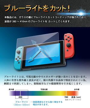 ニンテンドースイッチゲーム機ブルーライト強化ガラスフィルム強化ガラス保護フィルム液晶保護画面保護NintendoSwitch任天堂テレビゲーム