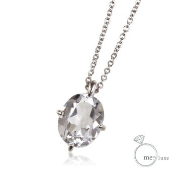 me. 一粒石ネックレス 【ネックレス】【necklace】【首飾り】【ペンダント】【レディース】【Lady's 女性用】