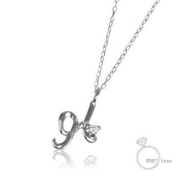 me.ダイヤ/イニシャルネックレス H 【ネックレス】【necklace】【首飾り】【ペンダント】【レディース】【Lady's 女性用】【DIAMOND】