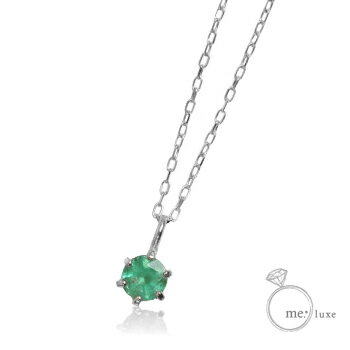 me. エメラルド/誕生石1粒石ネックレス 【ネックレス】【necklace】【首飾り】【ペンダント】【レディース】【Lady's 女性用】