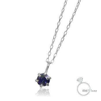 me. サファイア/誕生石1粒石ネックレス 【ネックレス】【necklace】【首飾り】【ペンダント】【レディース】【Lady's 女性用】