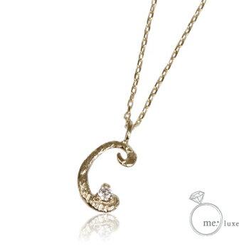 me.ダイヤ/イニシャルネックレス C 【ネックレス】【necklace】【首飾り】【ペンダント】【レディース】【Lady's 女性用】【DIAMOND】