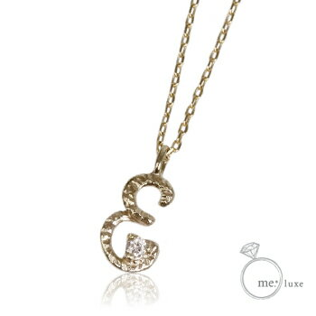 me.ダイヤ/イニシャルネックレス E 【ネックレス】【necklace】【首飾り】【ペンダント】【レディース】【Lady's 女性用】【DIAMOND】