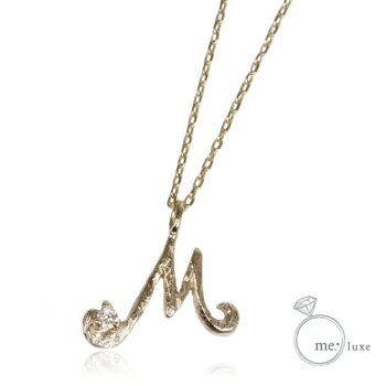 me.ダイヤ/イニシャルネックレス M 【ネックレス】【necklace】【首飾り】【ペンダント】【レディース】【Lady's 女性用】【DIAMOND】