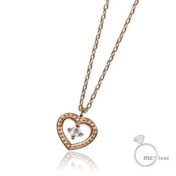 me. ダイヤ/ハートネックレス 【ネックレス】【necklace】【首飾り】【ペンダント】【レディース】【Lady's 女性用】【DIAMOND】
