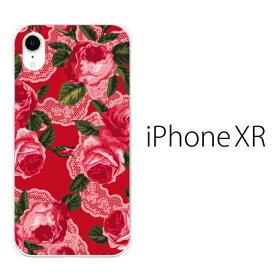 Plus-S iPhone xr ケース iPhone xs ケース iPhone xs max ケース iPhone アイフォン ケース ローズ フラワー 薔薇 レース iPhone XR iPhone XS Max iPhone X iPhone8 8Plus iPhone7 7Plus iPhone6 SE 5 5C ハードケース カバー スマホケース スマホカバー