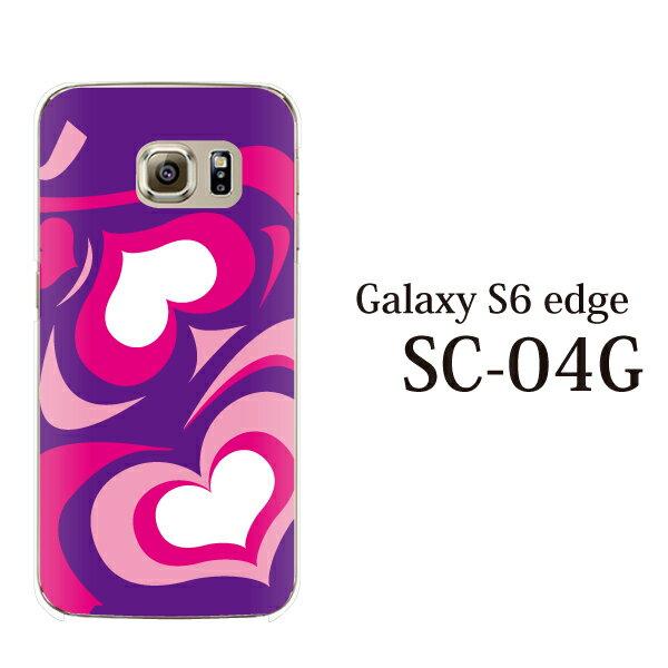 Galaxy S6 Edge ケース カバー Galaxy S6 edge SC-04G SCV31 ギャラクシーS6エッジ ケース カバー ギャラクシーS6 エッジ ケース カバー docomo au softbank スマホケース スマホカバー プッチ柄 ハート