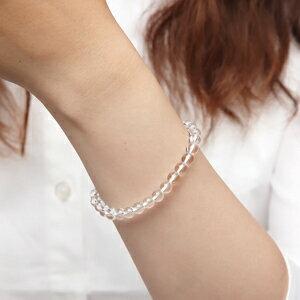 極上品質!天然石クリスタル水晶AAAAA6mmパワーストーンブレスレット(naturalstonebracelet)【天然石ブレスレッド】
