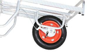 【運搬作業用品-収穫車・コンテナ車】ハラックス コン助 ブレーキ付アルミ製平形一輪車 CNB-60D エアータイヤ <大型・重量商品>